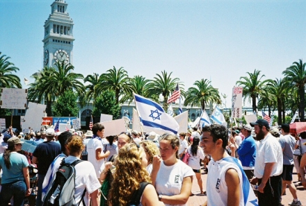 Crowd Shot at 07-23-06 SF Israel Rally