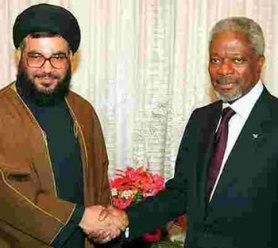 Kofi Annan Nasrallah