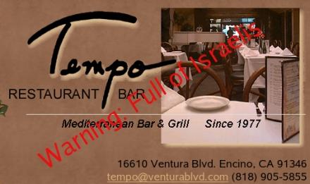 Tempo Restaurant warning