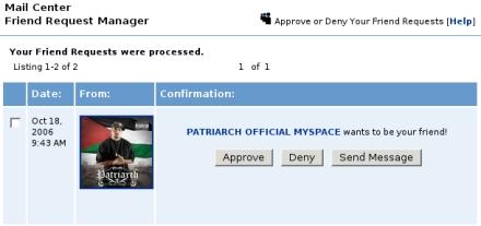 Patriarch MySpace 440