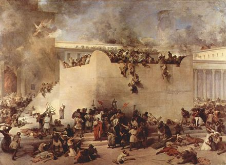 Francesco Hayez Destruction Temple Jerusalem