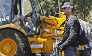 The Bulldozer used in the Attack- Courtsey of the NYTimes