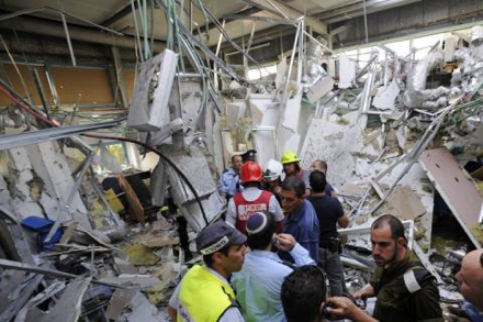 A rocket strike in a shopping mall in Ashkelon, Israel from earlier this year.